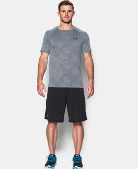 New Arrival  Men's UA Tech™ Jacquard T-Shirt  LIMITED TIME: FREE SHIPPING 1 Color $34.99