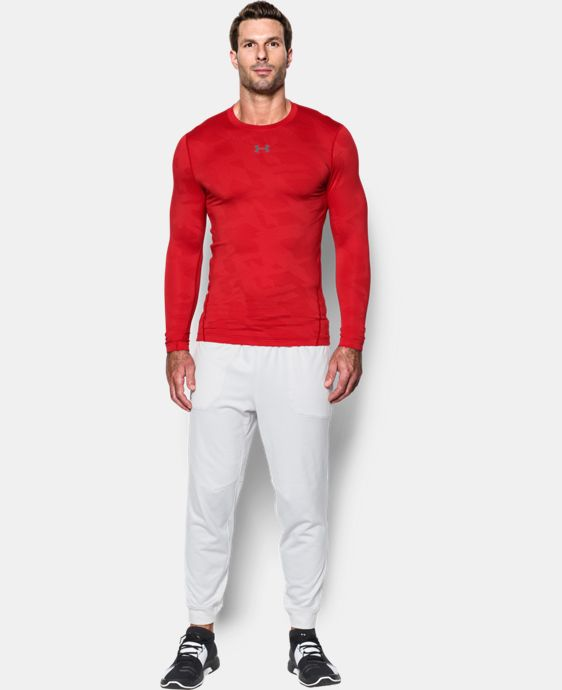 Men's UA ColdGear® Armour Jacquard Compression Crew  1 Color $59.99