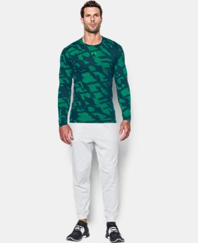 New Arrival  Men's UA ColdGear® Armour Jacquard Compression Crew LIMITED TIME: FREE SHIPPING 2 Colors $69.99