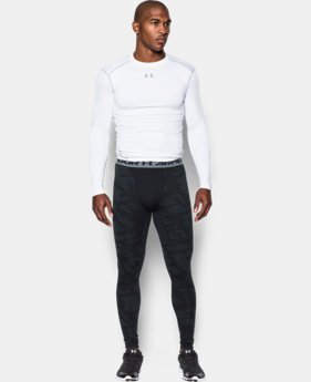 New Arrival  Men's UA ColdGear® Armour Jacquard Compression Leggings  1 Color $69.99