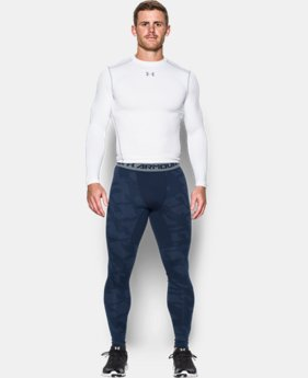 New Arrival  Men's UA ColdGear® Armour Jacquard Compression Leggings   $69.99