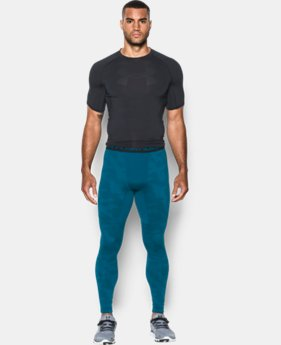 Men's UA ColdGear® Armour Jacquard Compression Leggings  1 Color $59.99