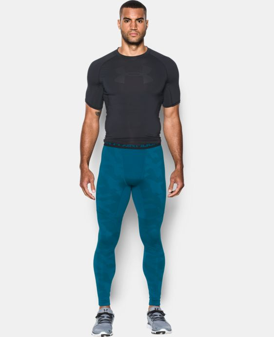 Men's UA ColdGear® Armour Jacquard Compression Leggings LIMITED TIME: FREE SHIPPING 1 Color $52.49