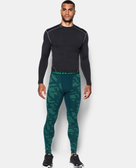 Men's UA ColdGear® Armour Jacquard Compression Leggings LIMITED TIME OFFER + FREE U.S. SHIPPING 1 Color $44.99 to $59.99