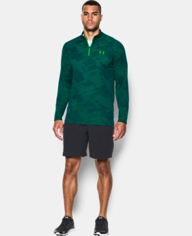 Best Seller  Men's UA Tech™ Jacquard ¼ Zip LIMITED TIME: FREE SHIPPING 1 Color $49.99