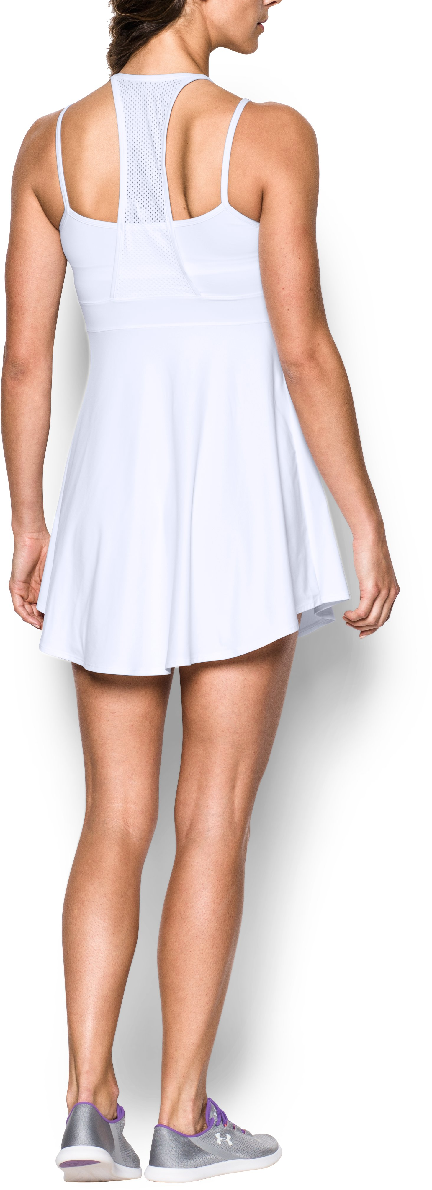 Women's UA Tennis Dress, White, Back