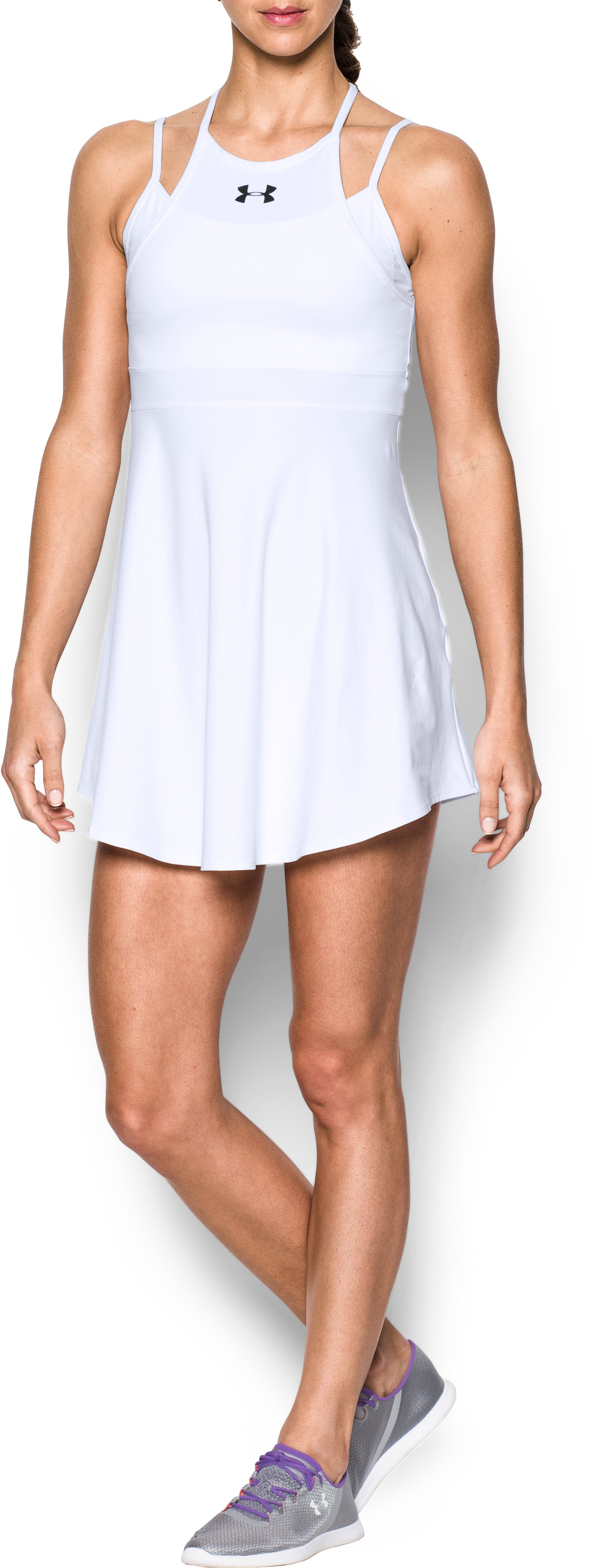 Women's UA Tennis Dress, White, Front
