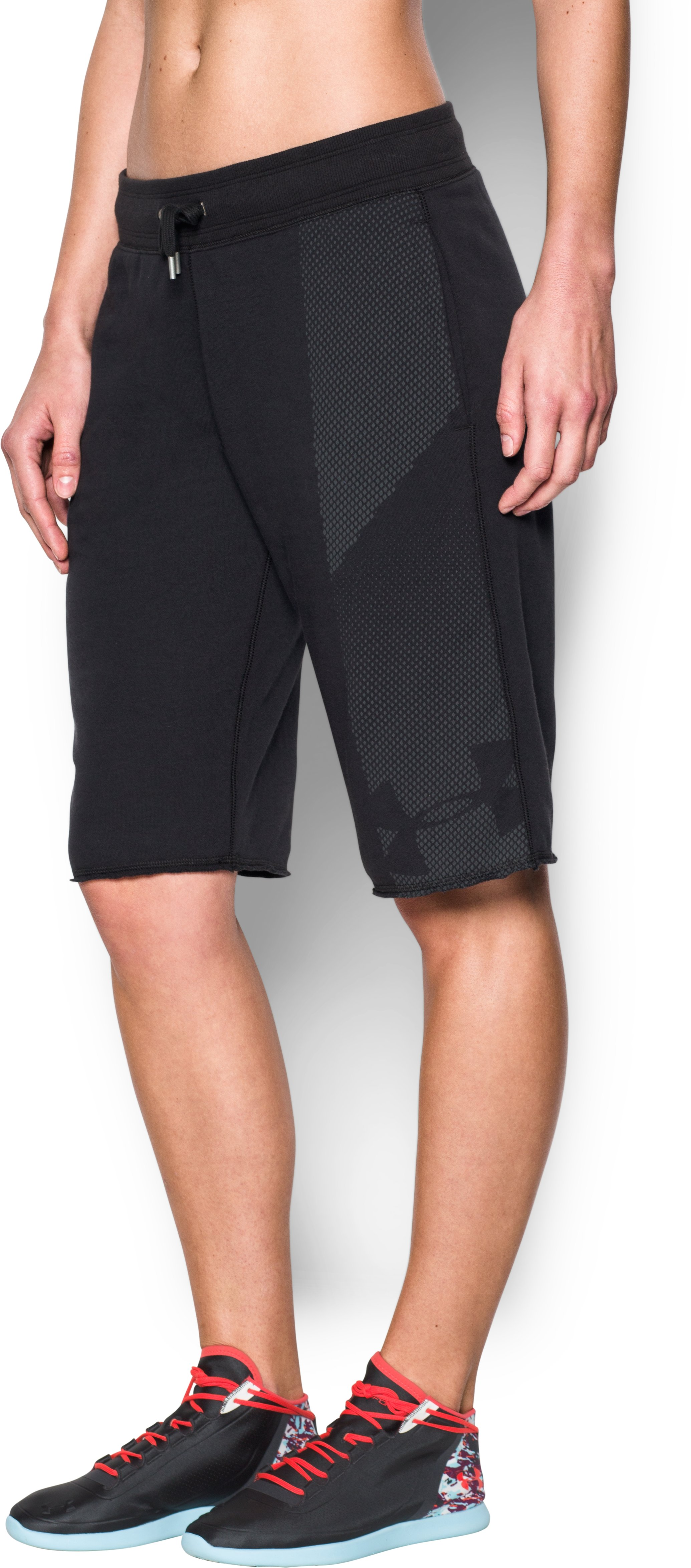 Women's UA French Terry Boyfriend Short, Black , zoomed image