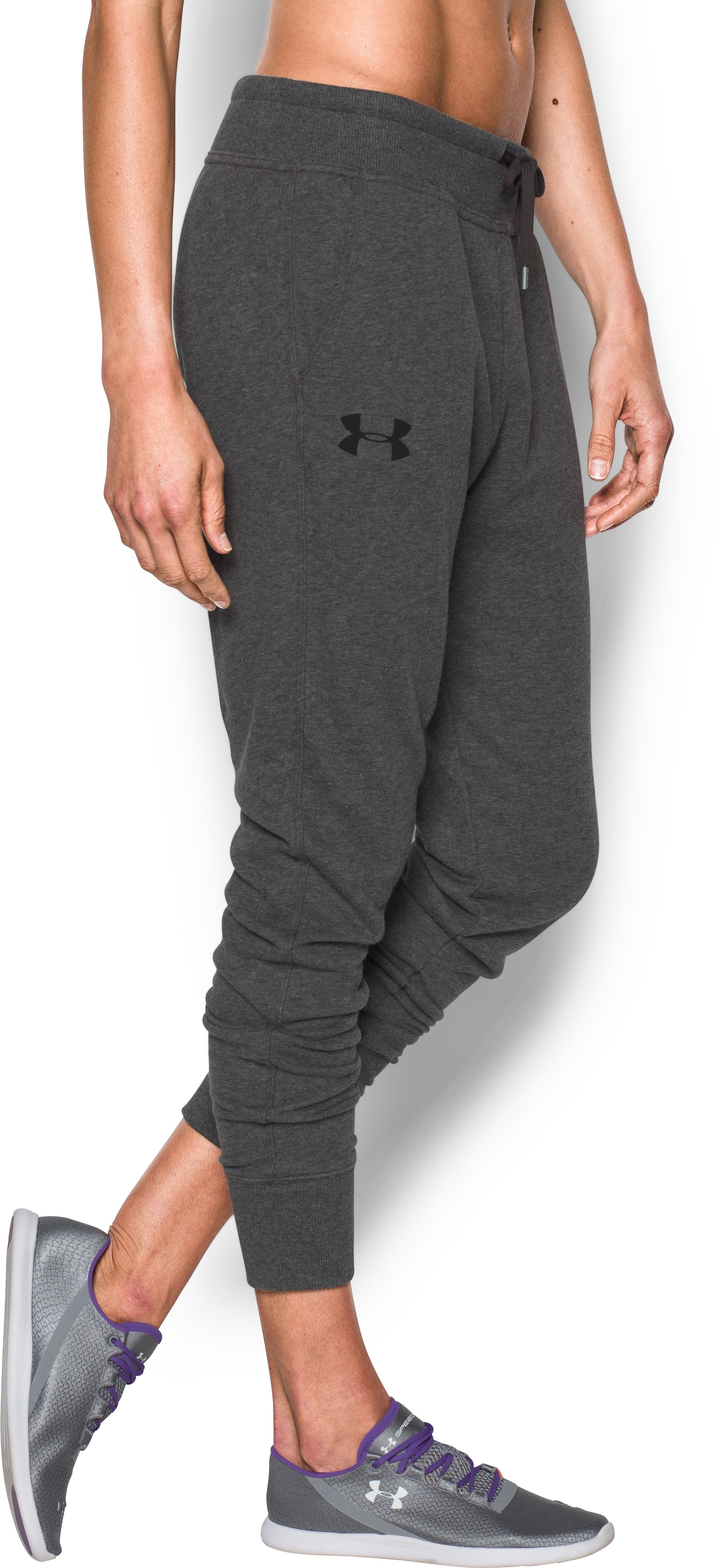 Women's UA Favorite French Terry Jogger , Carbon Heather, zoomed image