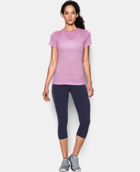 Women's UA Tech™ Crew - Stripe LIMITED TIME: FREE SHIPPING 1 Color $24.99