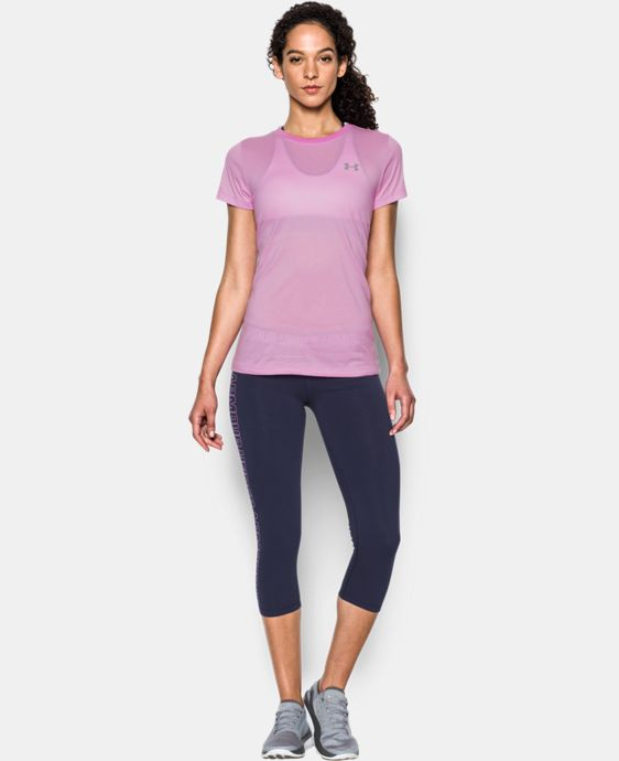 Women's UA Tech™ Crew - Stripe LIMITED TIME OFFER + FREE U.S. SHIPPING 1 Color $18.74