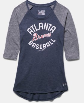 Girls' Atlanta Braves UA Tri-Blend ¾ Sleeve