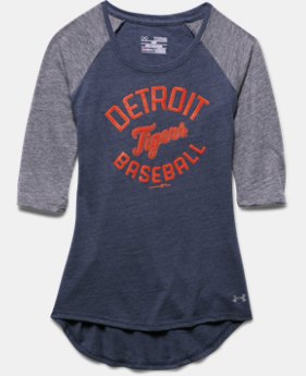 Girls' Detroit Tigers UA Tri-Blend ¾ Sleeve