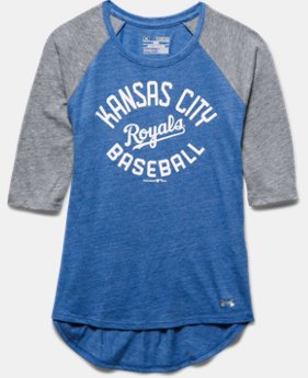Girls' Kansas City Royals UA Tri-Blend ¾ Sleeve
