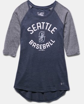 Girls' Seattle Mariners UA Tri-Blend ¾ Sleeve