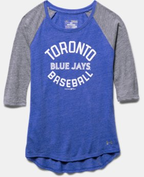 Girls' Toronto Blue Jays UA Tri-Blend ¾ Sleeve
