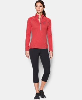 Women's Cleveland Indians UA Tech™ ½ Zip