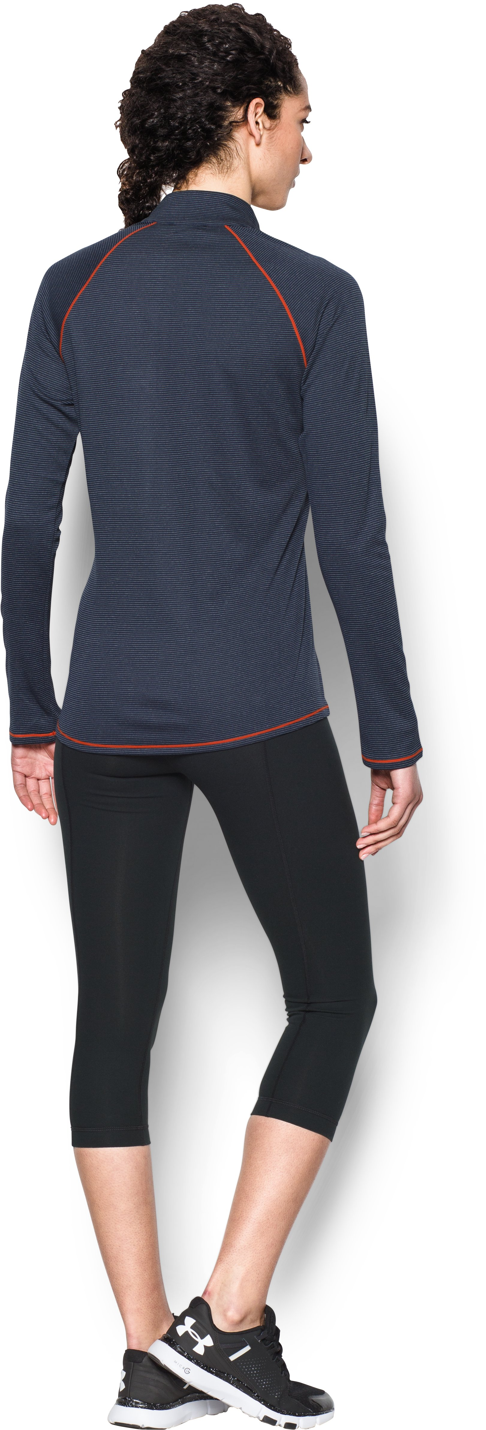 Women's Houston Astros UA Tech™ 1/2 Zip, Midnight Navy, Back