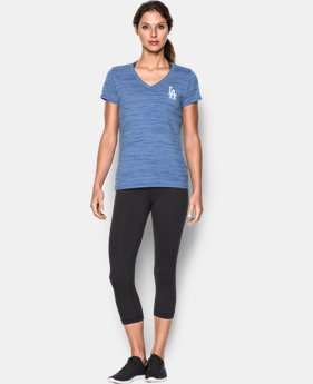 New Arrival Women's Los Angeles Dodgers UA Tech™ T-Shirt  1  Color Available $36.99