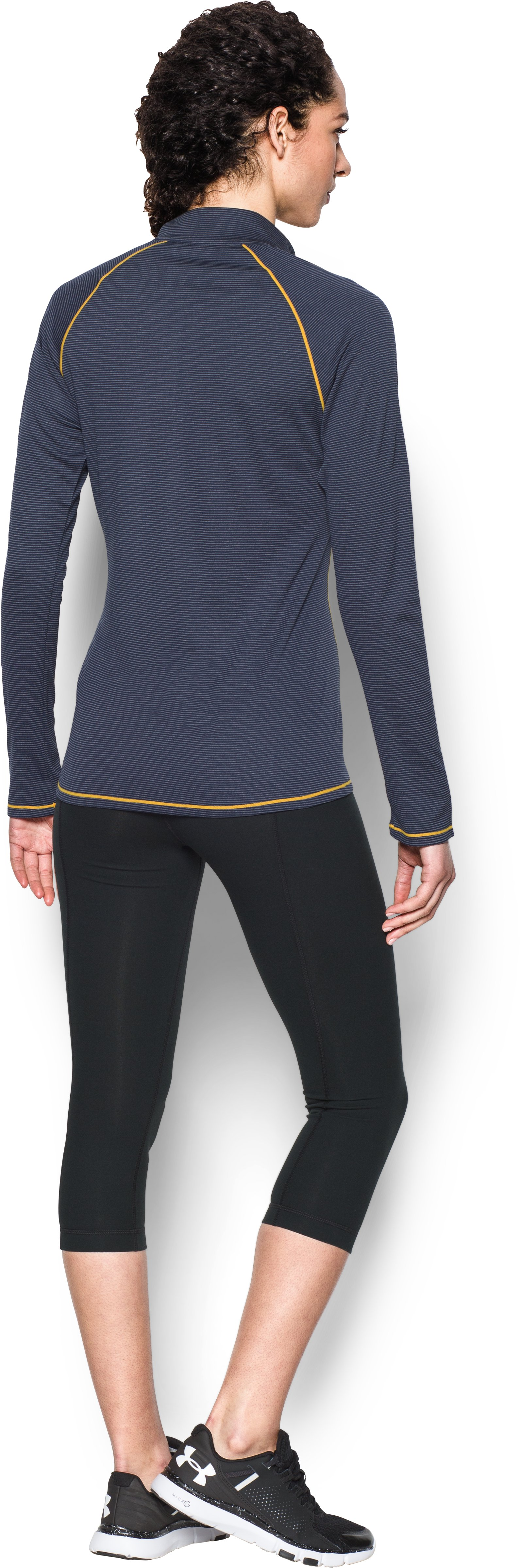 Women's Milwaukee Brewers UA Tech™ 1/2 Zip, Midnight Navy, Back