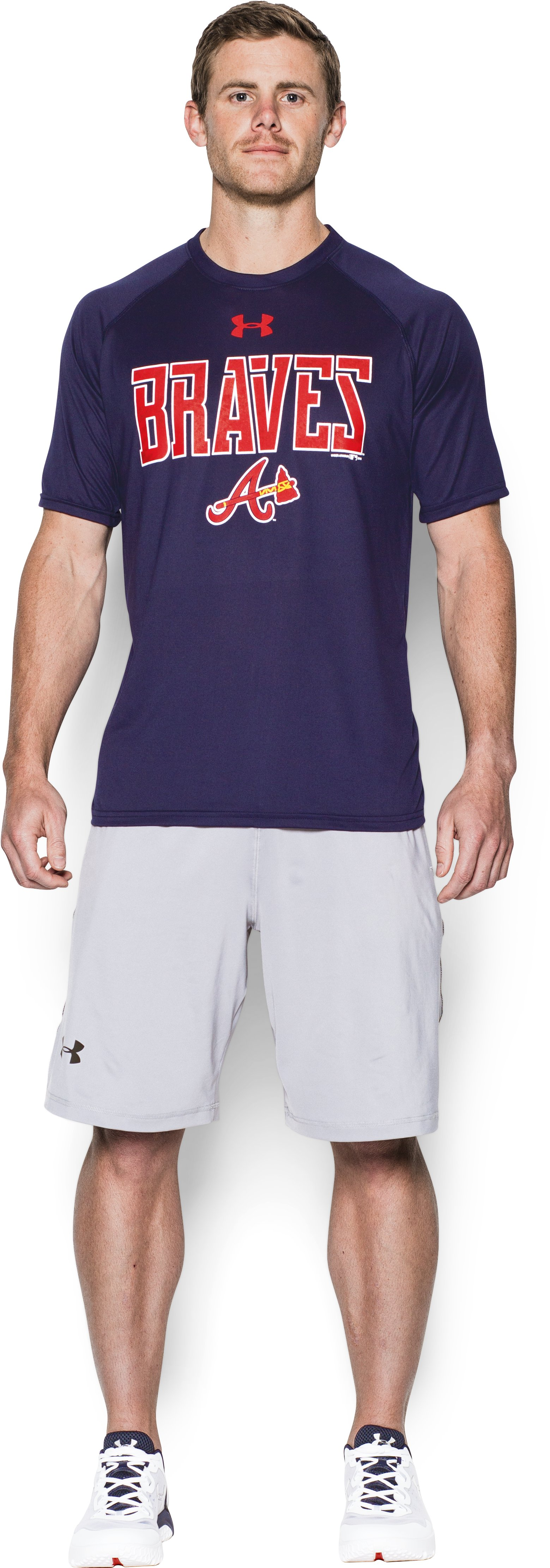Men's Atlanta Braves Team Tech™ T-Shirt, Midnight Navy, Front