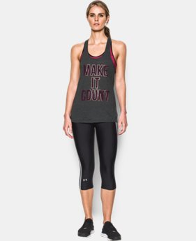 Women's UA Make it Count Tank LIMITED TIME: FREE SHIPPING 1 Color $24.99
