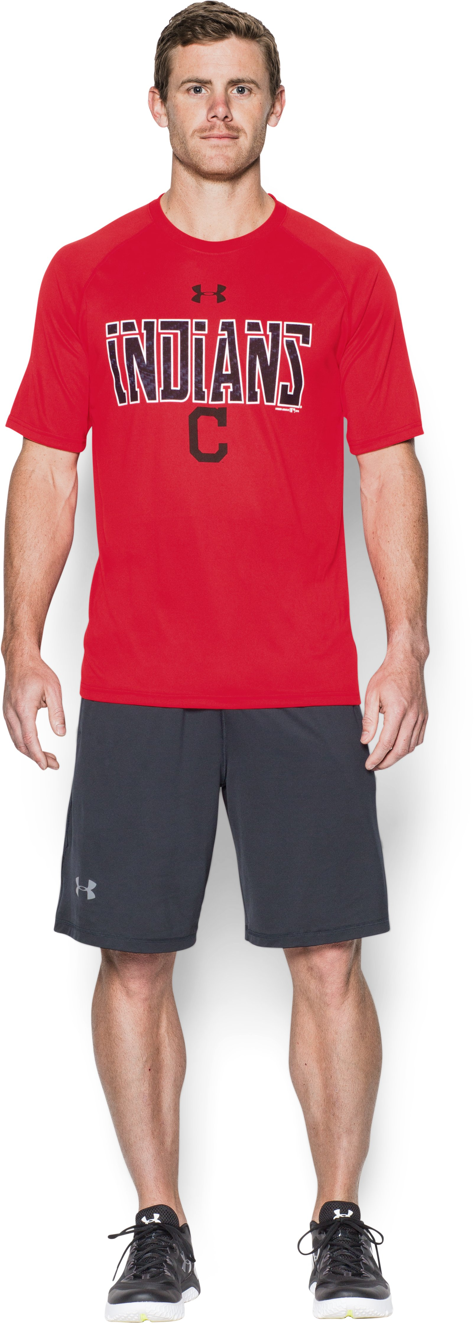 Men's Cleveland Indians Team Tech™ T-Shirt, Red, Front