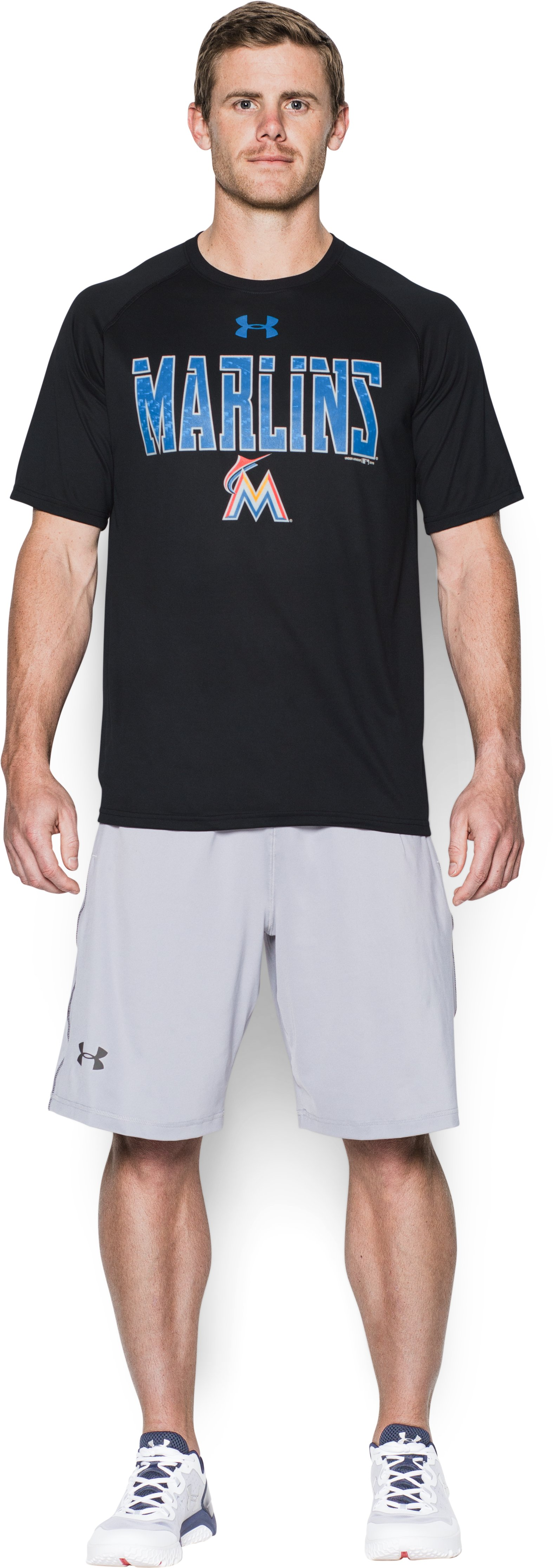 Men's Miami Marlins Team Tech™ T-Shirt, Black , Front