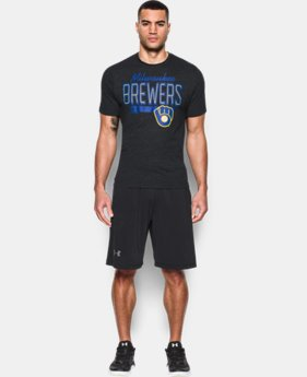 New Arrival Men's Milwaukee Brewers Tri-blend T-Shirt LIMITED TIME: FREE SHIPPING 1 Color $26.99