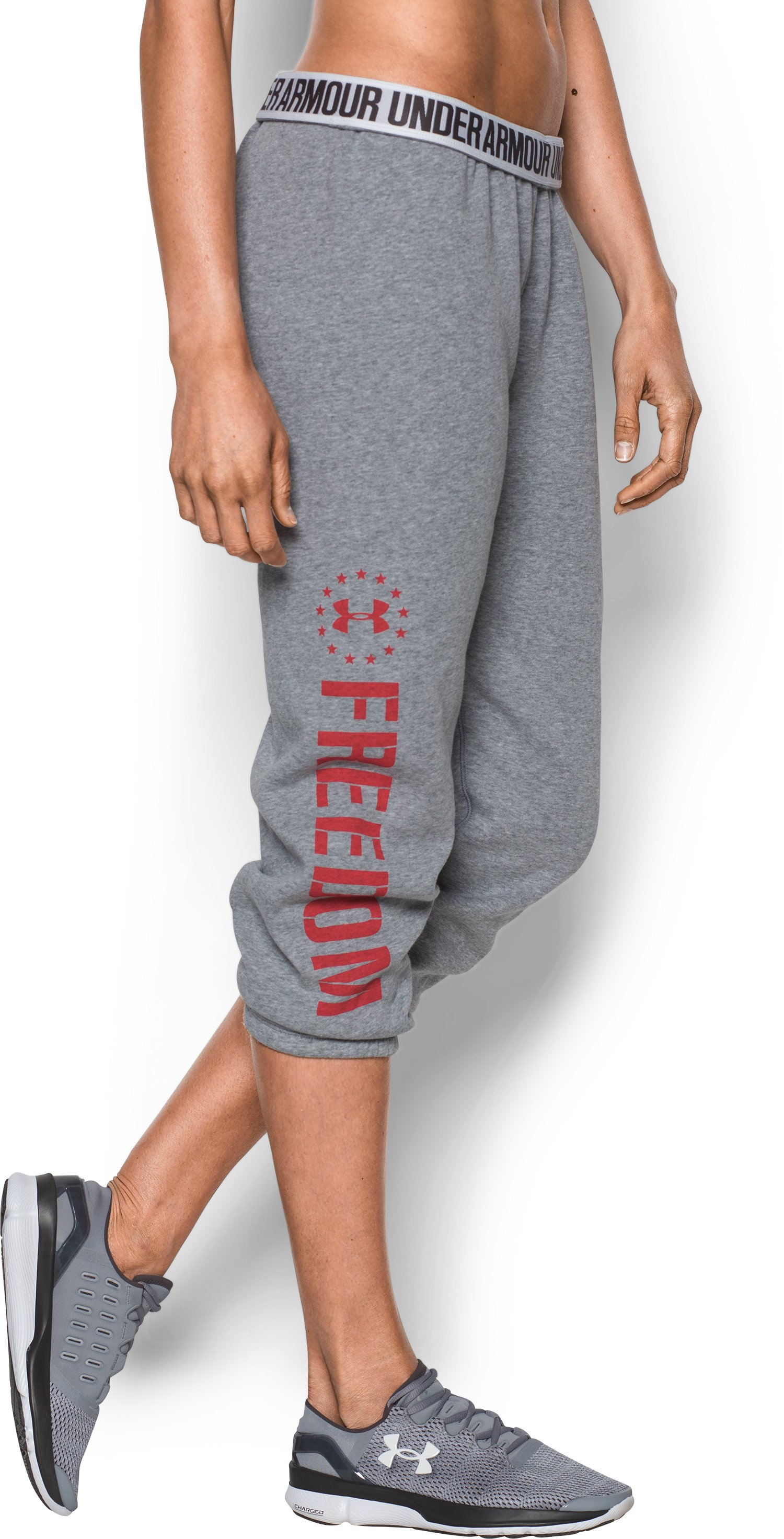 Women's UA Freedom Favorite Fleece Capris, True Gray Heather