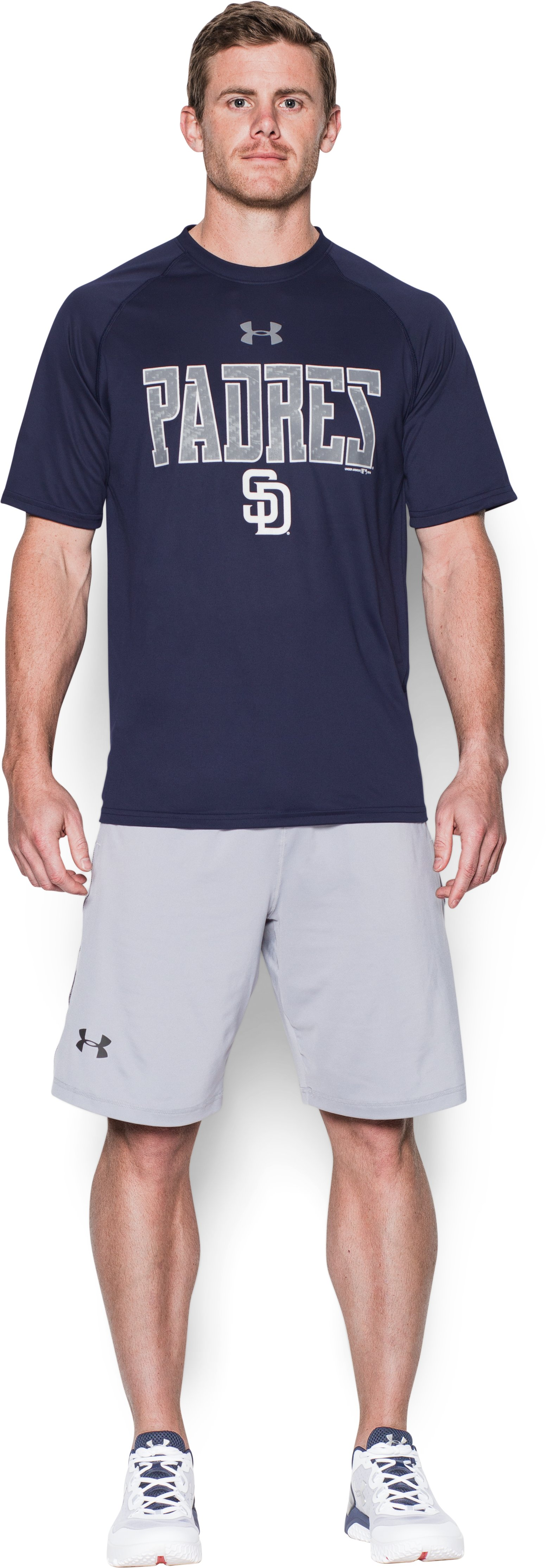 Men's San Diego Padres Team Tech™ T-Shirt, Midnight Navy, Front