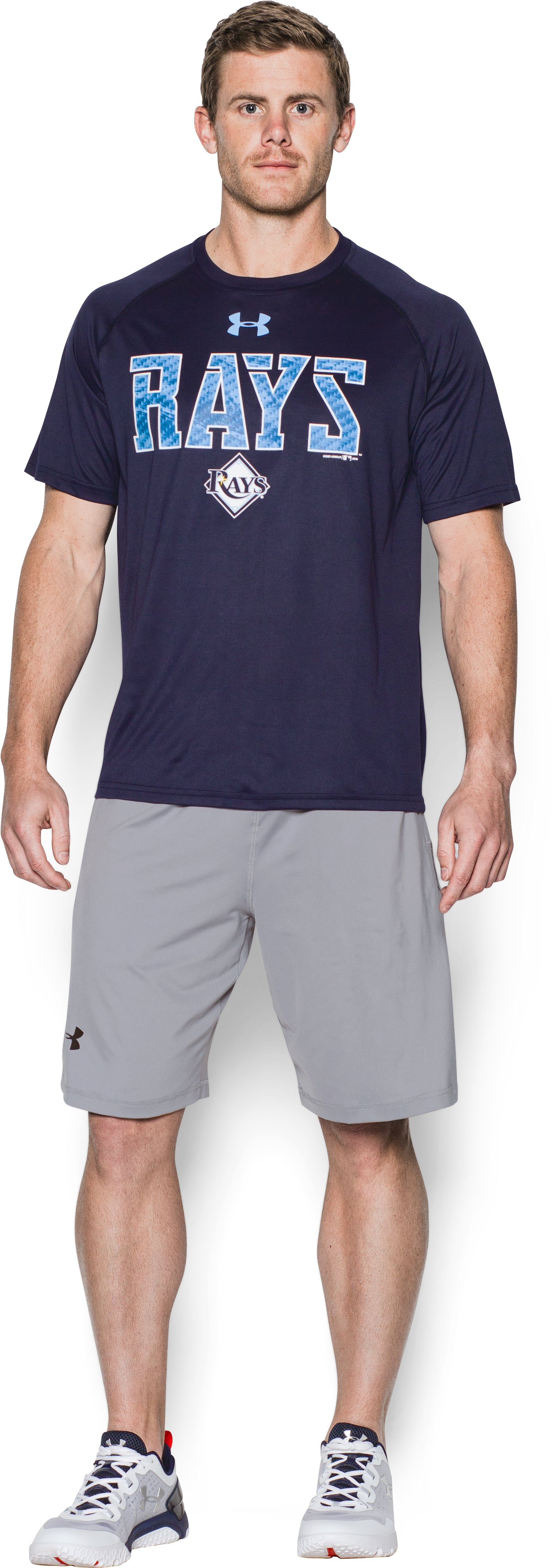 Men's Tampa Bay Rays Team Tech™ T-Shirt, Midnight Navy, Front