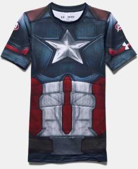 Boys' Under Armour® Alter Ego Captain America Fitted Shirt