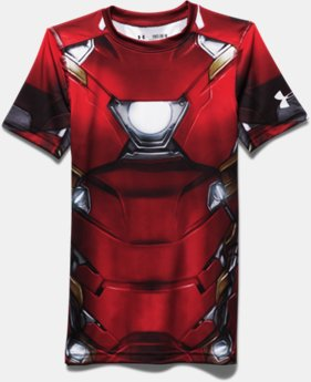 Boys' Under Armour® Alter Ego Iron Man Fitted Shirt