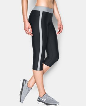 "Best Seller Women's UA HeatGear® Armour 18"" Sport Capri  3 Colors $39.99"