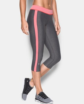 "Women's UA HeatGear® Armour 18"" Sport Capri   LIMITED TIME: FREE U.S. SHIPPING 3 Colors $22.49 to $29.99"