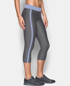 "Women's UA HeatGear® Armour 18"" Sport Capri   LIMITED TIME: FREE SHIPPING 2 Colors $29.99 to $39.99"