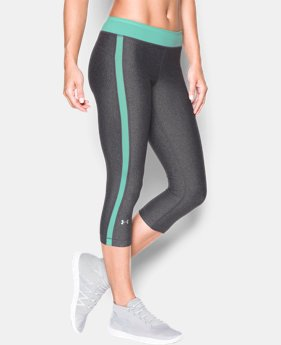 "Women's UA HeatGear® Armour 18"" Sport Capris  2 Colors $17.99 to $22.49"