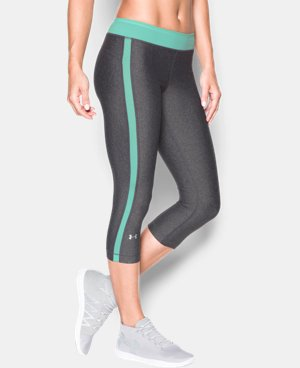 "Best Seller Women's UA HeatGear® Armour 18"" Sport Capri   LIMITED TIME: FREE U.S. SHIPPING 1 Color $39.99"