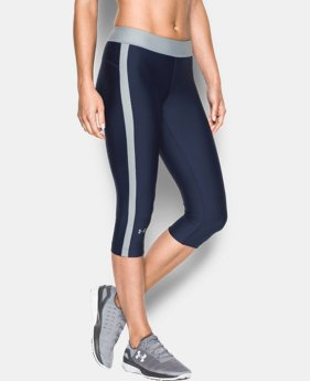 "Best Seller Women's UA HeatGear® Armour 18"" Sport Capri  1 Color $39.99"
