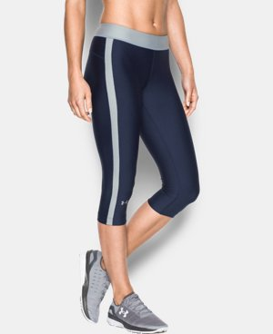 "Best Seller Women's UA HeatGear® Armour 18"" Sport Capri   LIMITED TIME: FREE U.S. SHIPPING 1 Color $29.99 to $39.99"