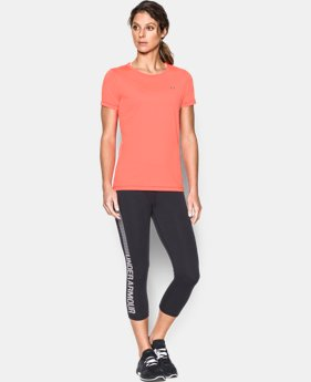 New to Outlet Women's UA HeatGear® Armour Short Sleeve  1 Color $19.99