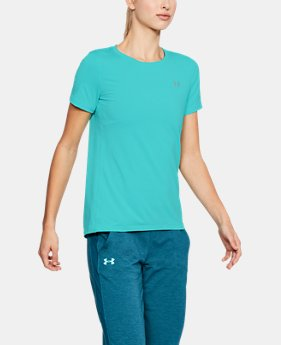 Women's UA HeatGear® Armour Short Sleeve  3  Colors Available $32.99