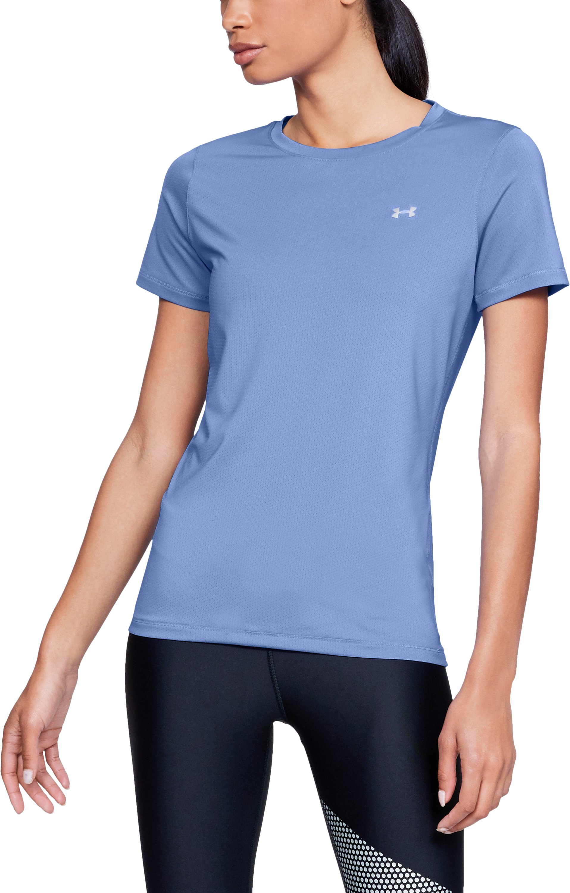 Women's UA HeatGear® Armour Short Sleeve, TALC BLUE