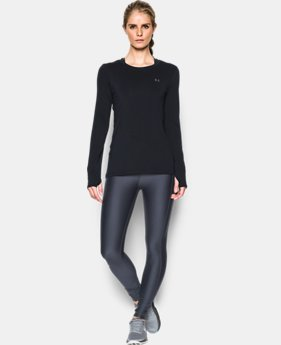 New Arrival  Women's UA HeatGear® Armour Long Sleeve   1 Color $28.99 to $37.99
