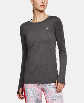 Women's HeatGear® Long Sleeve  3  Colors Available $32.99