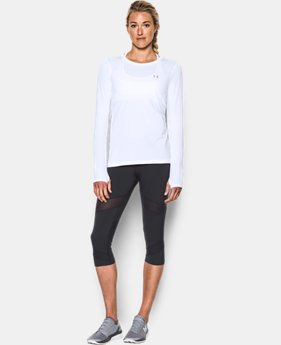 New Arrival  Women's UA HeatGear® Armour Long Sleeve  LIMITED TIME: FREE SHIPPING 4 Colors $28.99 to $37.99