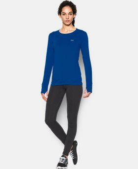 New Arrival  Women's UA HeatGear® Armour Long Sleeve  1 Color $37.99