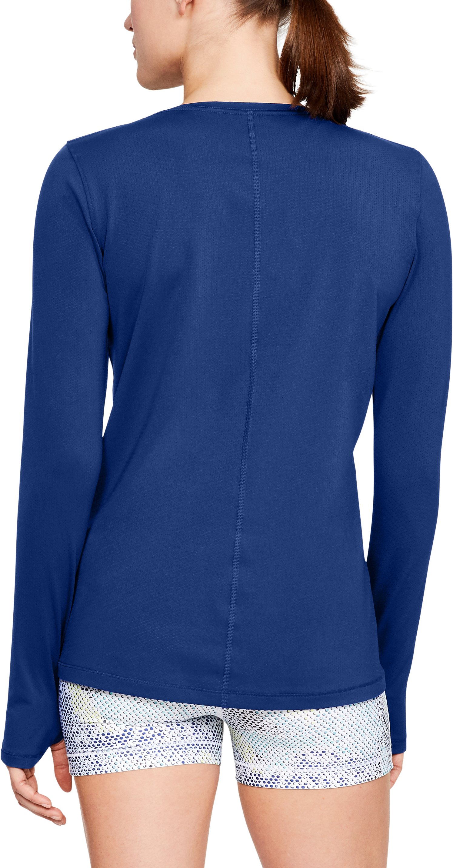 Women's UA HeatGear® Armour Long Sleeve, FORMATION BLUE,