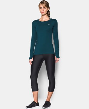 New Arrival  Women's UA HeatGear® Armour Long Sleeve  LIMITED TIME: FREE SHIPPING 10 Colors $28.99 to $37.99